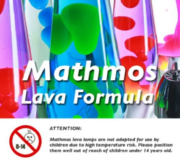 Mathmos Astro Lavalampe Das Original - Violett/Orange - 9