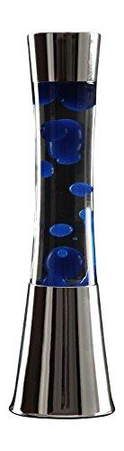 Reality Leuchten Lavalampe Metall blau Glas 41cm klar 35W Design - 1